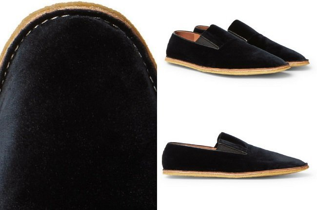Dries Van Noten Leather-Trimmed Velvet Espadrilles