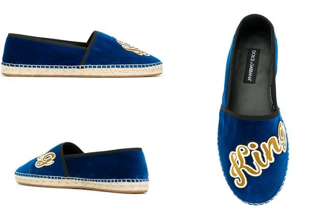 Dolce & Gabbana King Of Hearts embroidered espadrilles