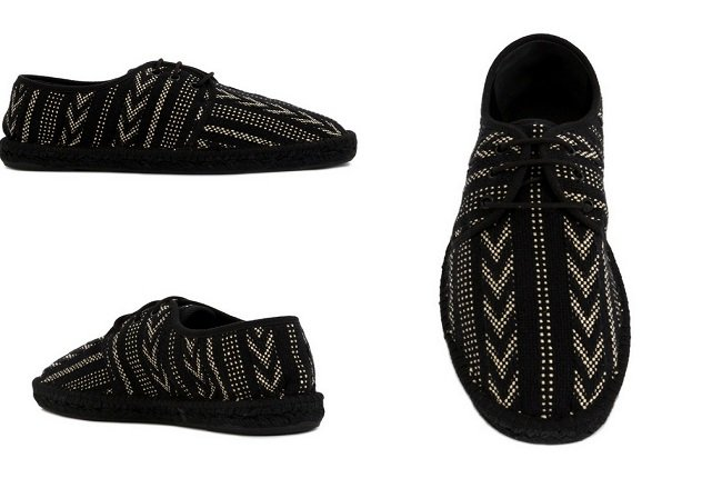 Saint Laurent embroidered lace-up espadrilles