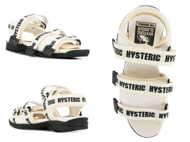 HYSTERIC GLAMOUR logo print strapped sandals