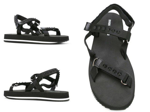 DSQUARED2 stud-trimmed sandals