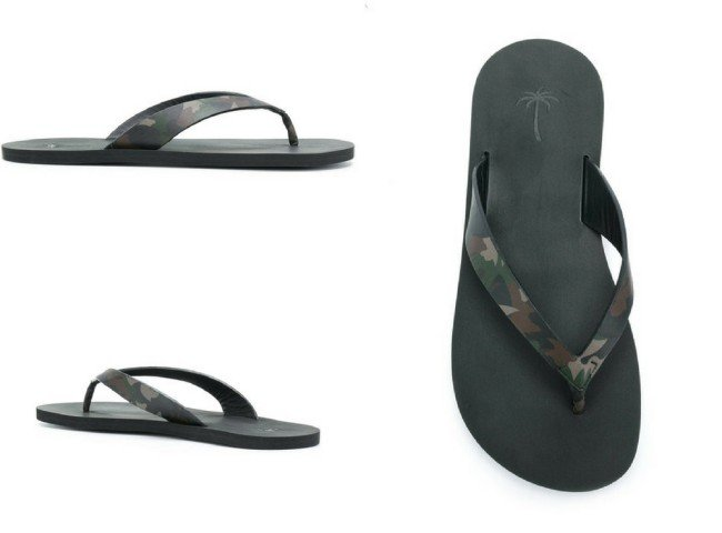 TOMAS MAIER camouflage palm tree flip flops