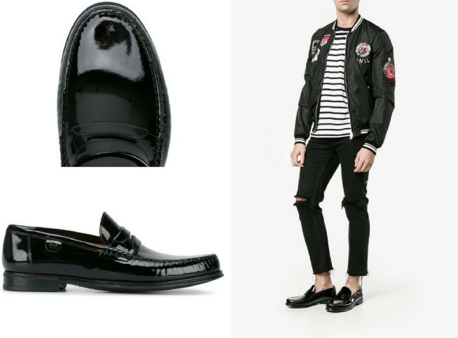 DOLCE & GABBANA round toe loafers