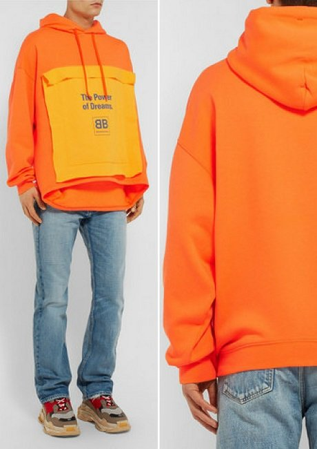 Balenciaga Oversized Printed Loopback Cotton-Blend Jersey Hoodie