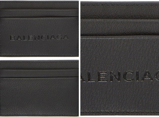 Balenciaga Black Logo Card Holder