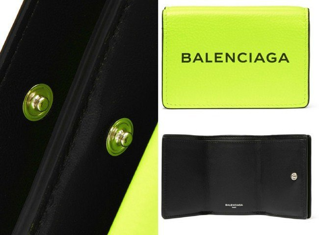 Balenciaga Everyday Printed Textured-Leather Wallet