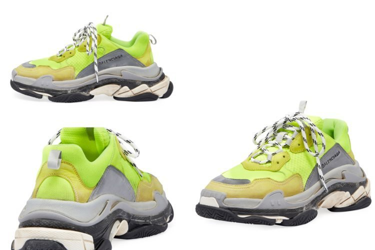 BALENCIAGA TRIPLE S MESH AND SUEDE SNEAKERS