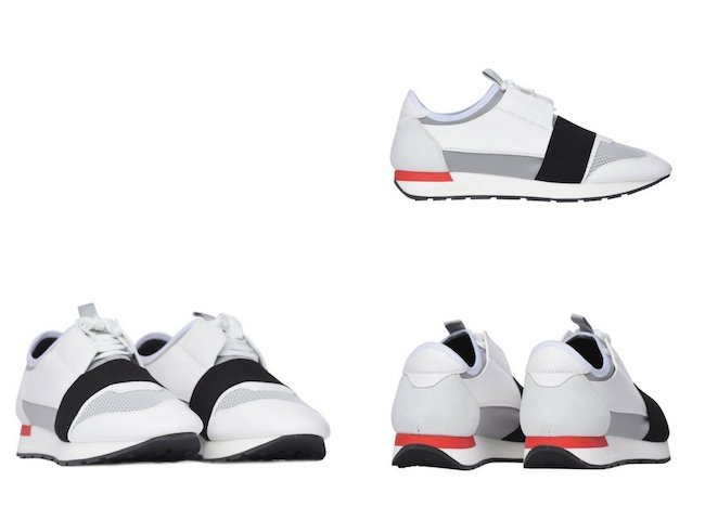 Balenciaga Race Runners White:black:grey Sneakers
