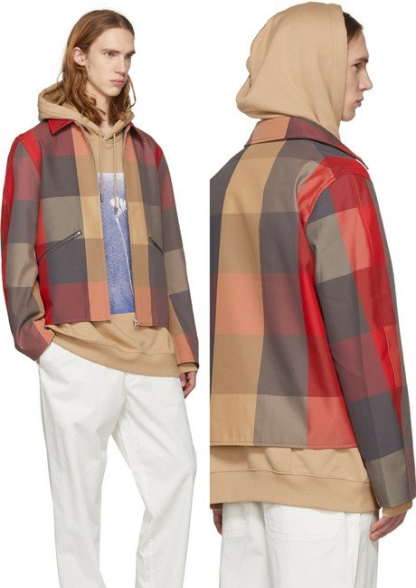 Acne Studios Red Check Miles Jacket