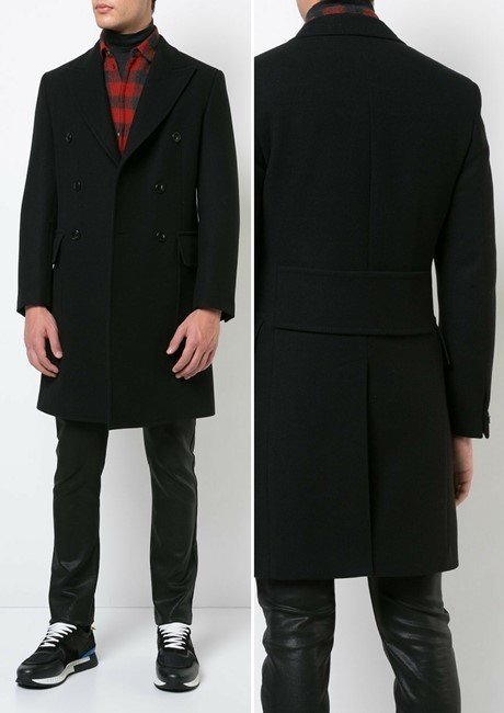 VERSACE belted double breasted coat