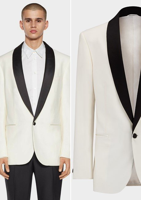 SATIN COLLAR TUXEDO EVENING JACKET