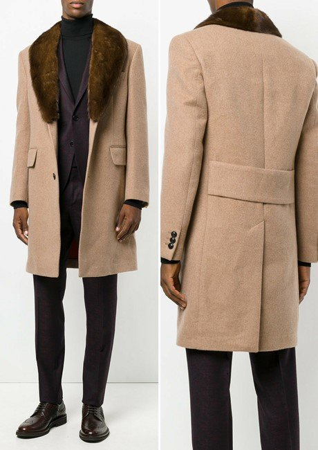 VERSACE shawl collar coat