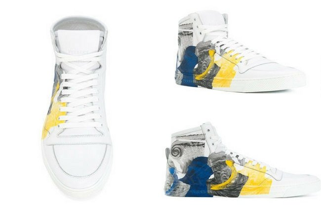 Versace printed Medusa hi-top sneakers