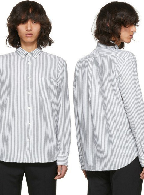Acne Studios Green & White Striped Isherwood Shirt