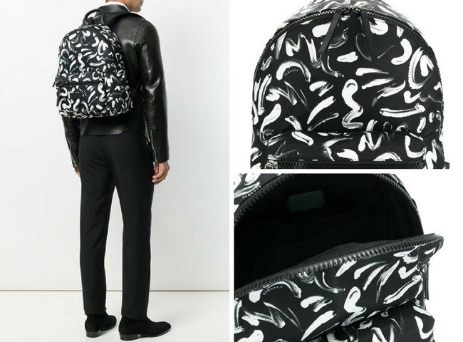 VERSACE printed backpack