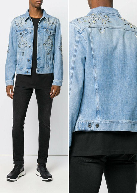 Versace studded denim jacket