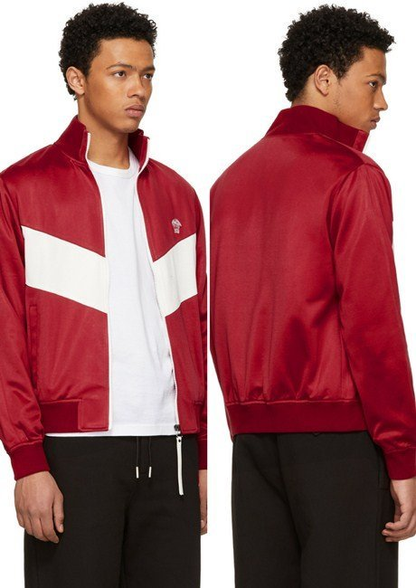 Versace Red & White Medusa Track Jacket