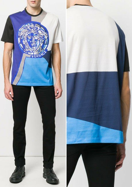 VERSACE patterned Medusa T-shirt