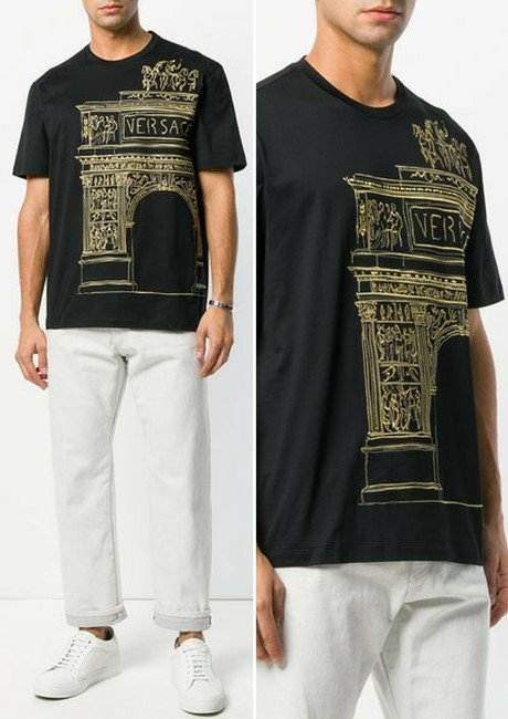 VERSACE embroidered T-shirt