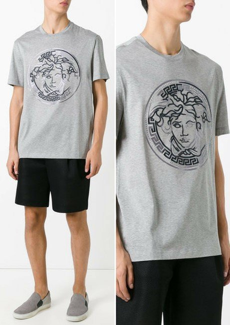 VERSACE embroidered faded Medusa T-shirt