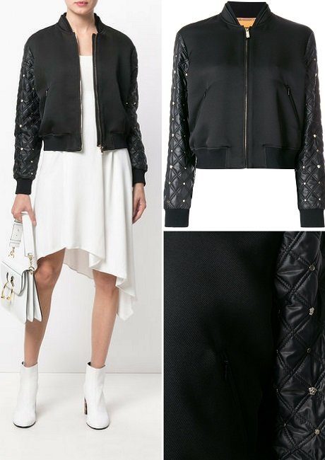 Versace quilted sleeve bomber jacket