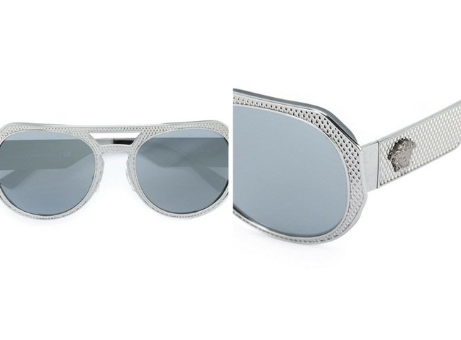 Versace 'Rock Icon' embossed sunglasses