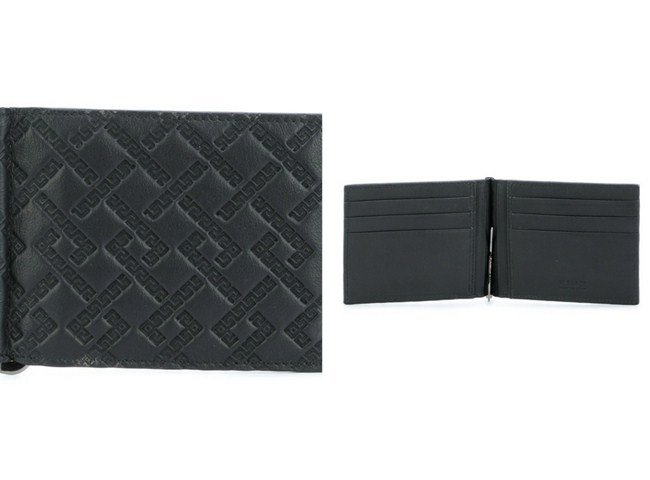 Versace embossed Greek Key cardholder