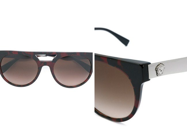 Versace oversized tinted sunglasses