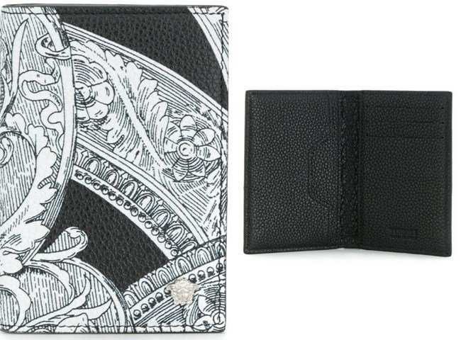 Versace Baroque print long wallet