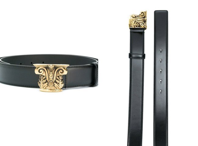 Versace sculpted buckle belt