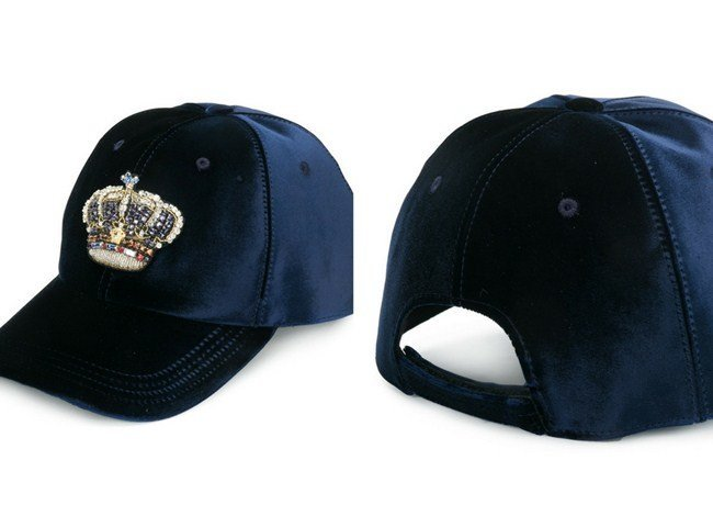 Versace velvet crown baseball cap