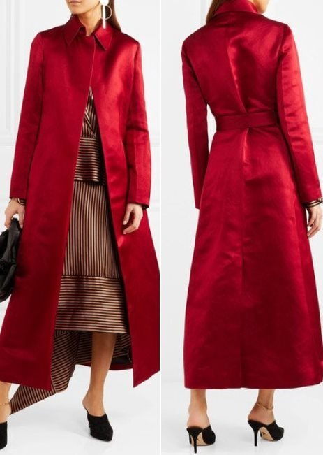 The Row Neyton Silk Satin Coat