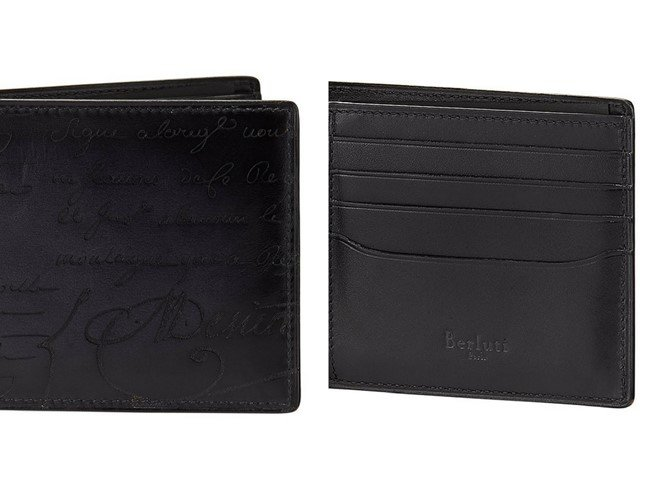 Berluti Scritto Leather Bi-Fold Wallet