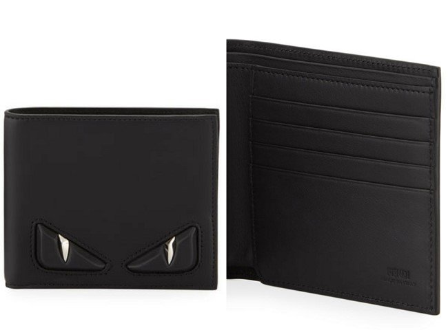 Fendi Embossed Monster Eye Bi-Fold Wallet