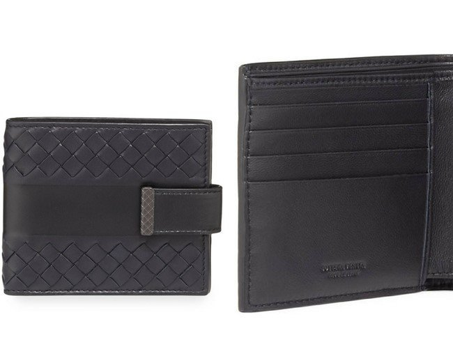 Bottega Veneta Bands Intrecciato Leather Wallet