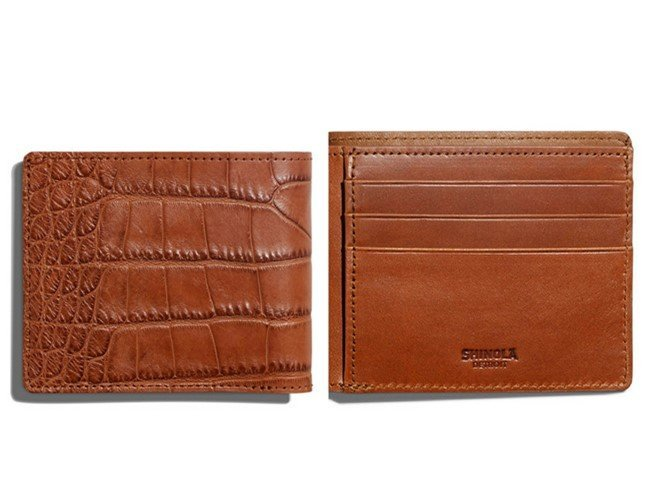 Shinola Alligator Classic Bifold Wallet