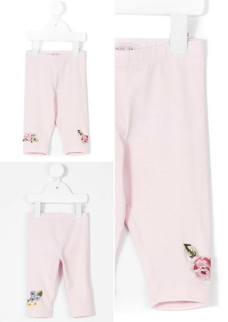 MONNALISA Floral Embroidered Trousers