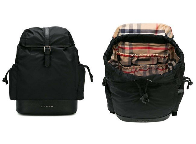 BURBERRY KIDS top cap backpack