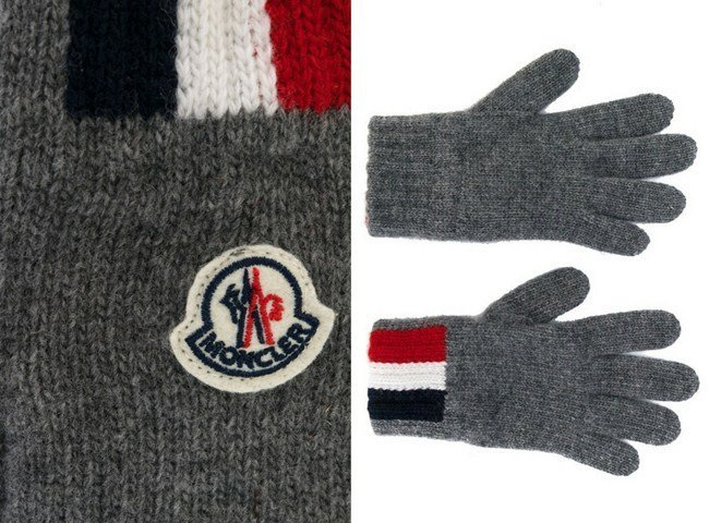 Moncler Kids classic stripe gloves