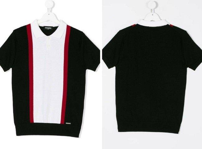 DSQUARED2 KIDS striped polo shirt