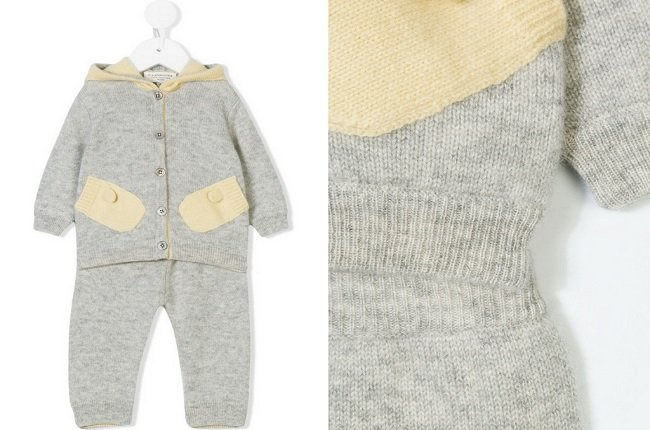 Cashmirino Knitted two piece tracksuit