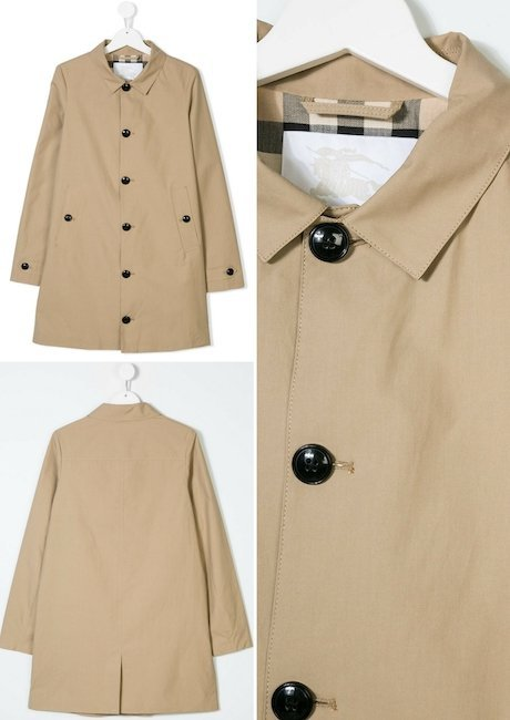 BURBERRY KIDS Single Breasted Trench Coat