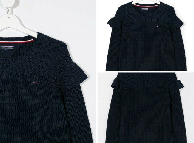 Tommy Hilfiger Junior ruffled detail sweater