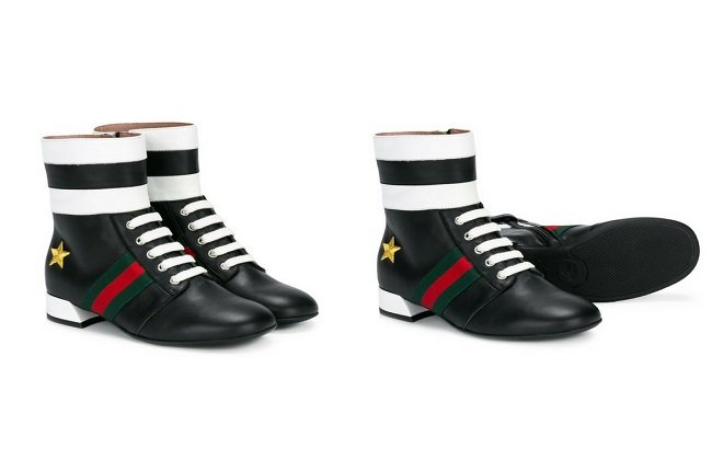 Gucci Kids Lace-up Boots