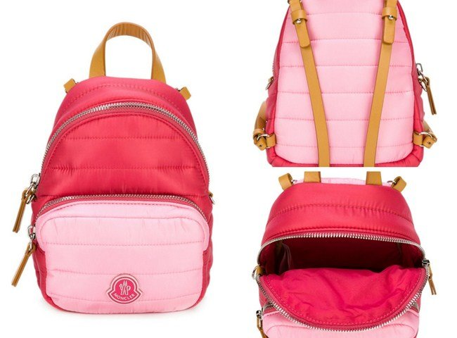 Moncler Kids quilted backpack