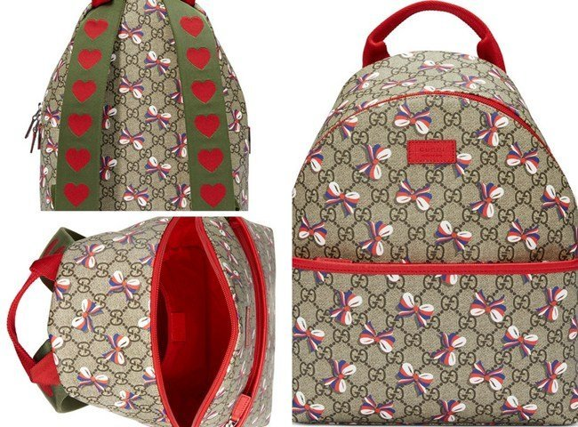 Gucci Kids Children's GG Sylvie bow backpack