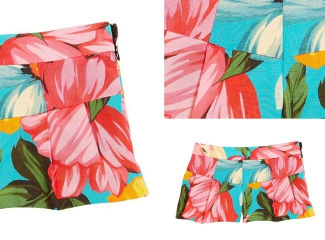 Milly Minis Pleated Floral Shorts