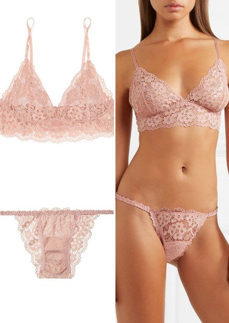 e3926d1a84c HANKY PANKY Sophia stretch-corded lace soft-cup triangle bra   briefs
