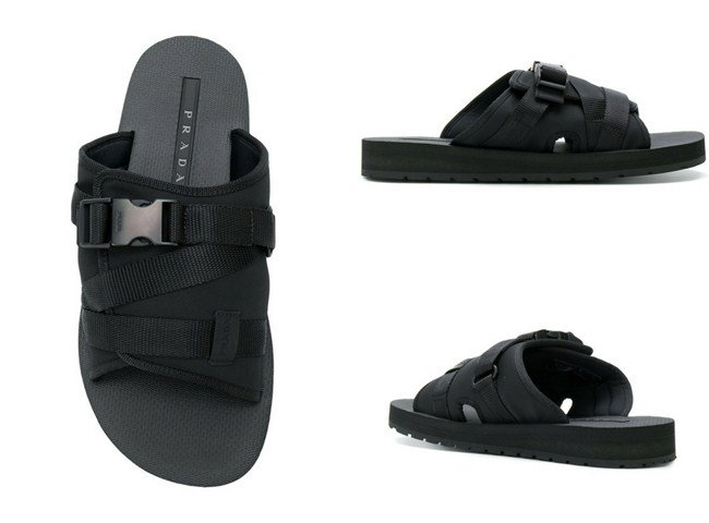 Prada buckle open-toe sandals