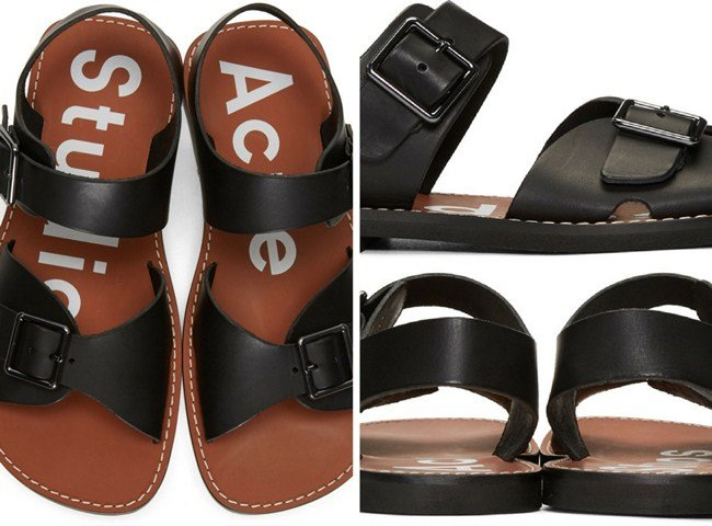 Acne Studios Black & Brown Basiel Sandals